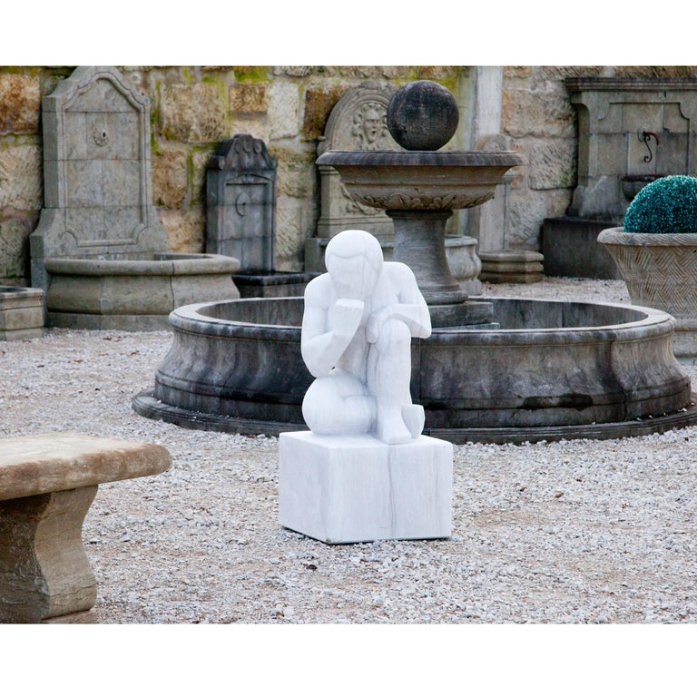 Marble Sculpture the Thinker, 21st Century For Sale 6