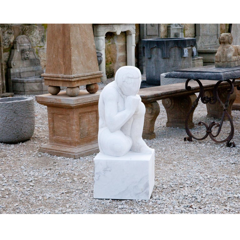 Marble Sculpture the Thinker, 21st Century For Sale 7