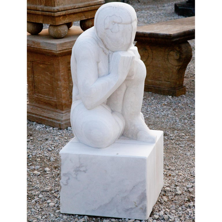 Marble Sculpture the Thinker, 21st Century For Sale 1