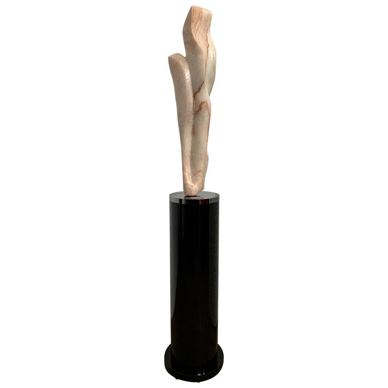 """Marble Sculpture Titled """"Desert Flower"""" by Marcia Mitchell Reese For Sale"""