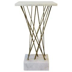 Marble Side or Drinks Table