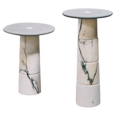 Marble Side Table Set by Samuele Brianza