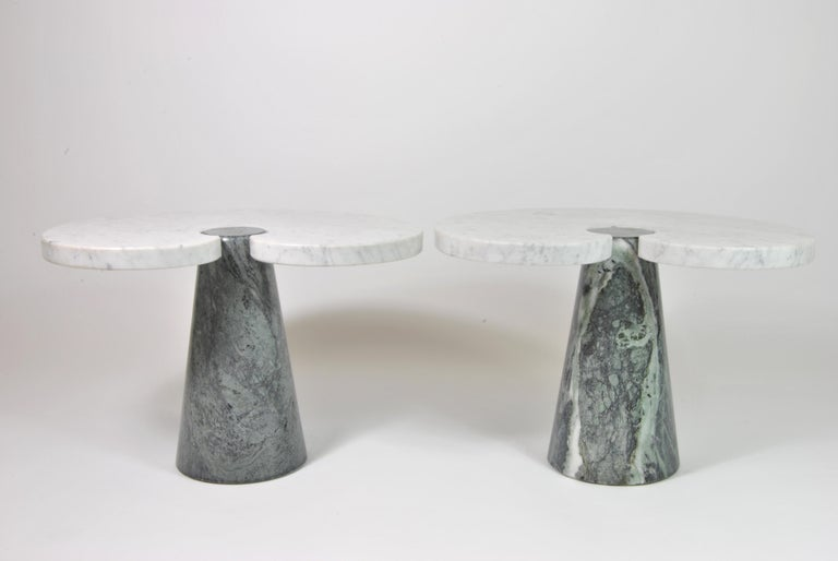 Italian Marble Side Tables, Design by Angelo Mangiarotti for Skipper, Italy, 1970 For Sale