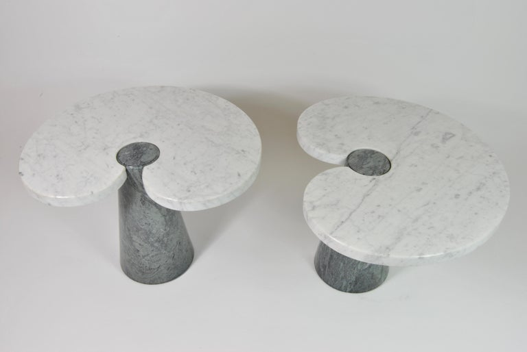 Marble Side Tables, Design by Angelo Mangiarotti for Skipper, Italy, 1970 In Excellent Condition For Sale In Napoli, IT
