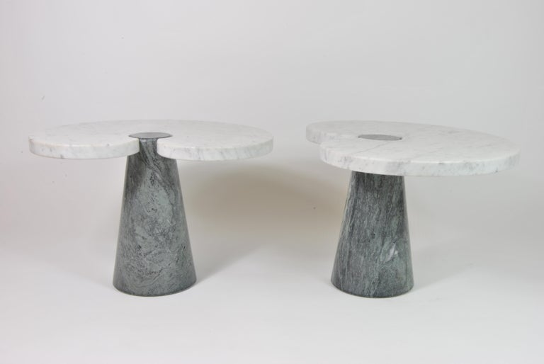 Late 20th Century Marble Side Tables, Design by Angelo Mangiarotti for Skipper, Italy, 1970 For Sale
