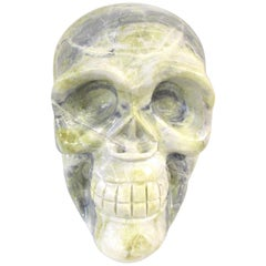 Marble Skull Sculpture