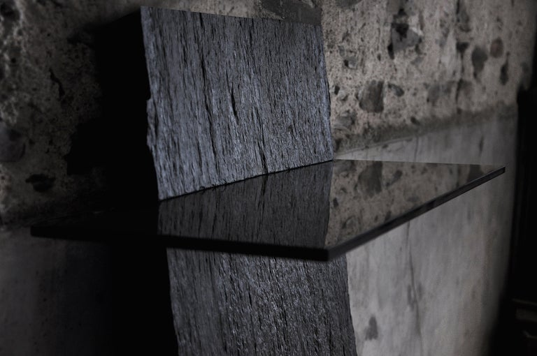 Marble Slate Console, Sculpted by Frédéric Saulou For Sale 1