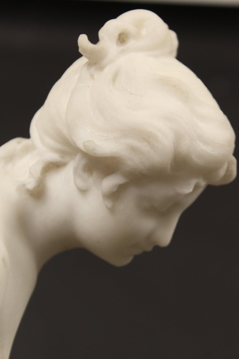 Marble Statue by Rene Bulens For Sale 4