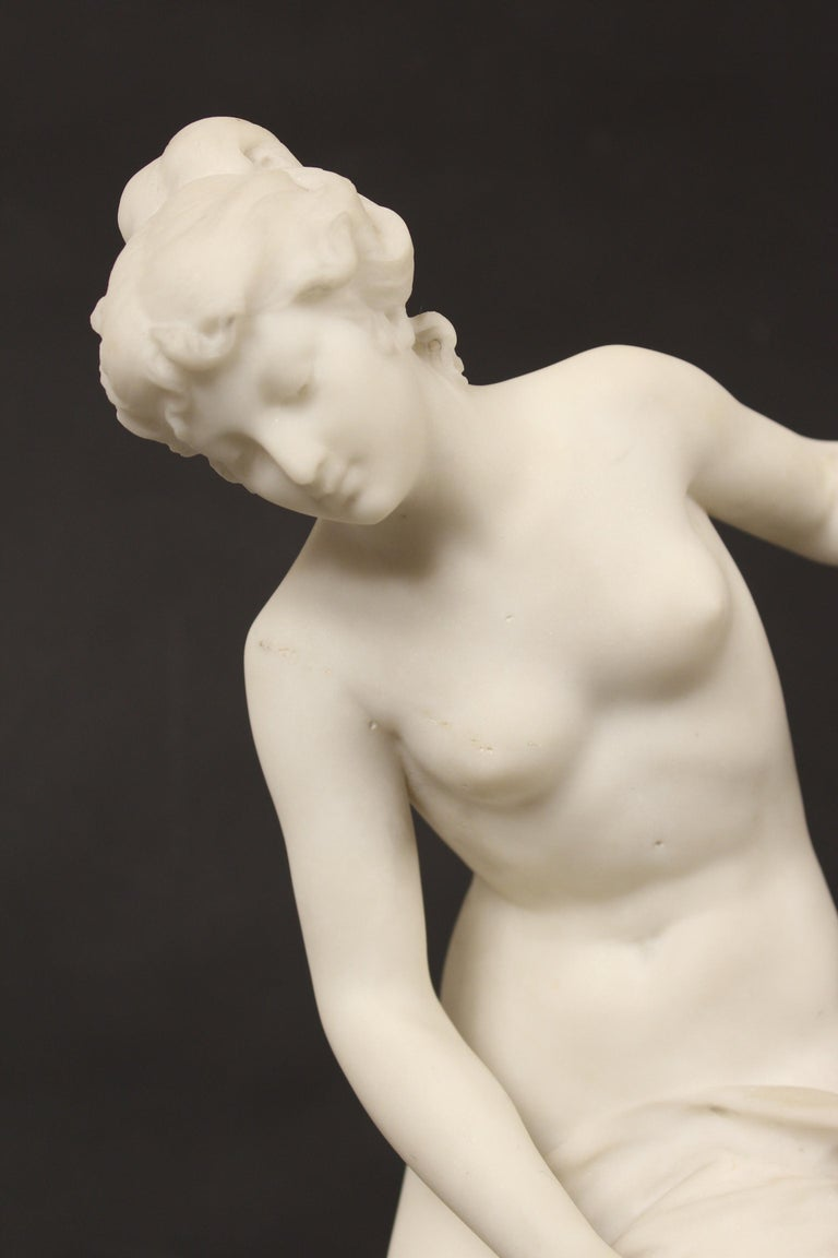 Louis XV Marble Statue by Rene Bulens For Sale