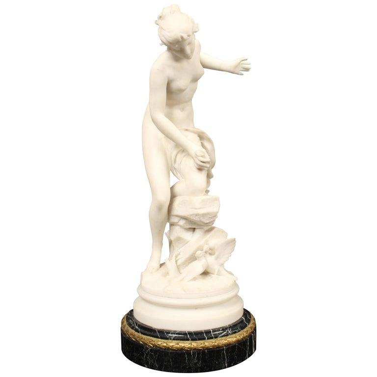 Marble Statue by Rene Bulens For Sale