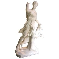 Marble Statue of Diana the Huntress, Italy, Tuscany, 1850