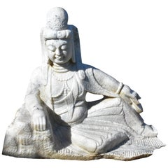 Marble Statue of Kwan Yin Avalokiteshara, Large Sculpture Buddha