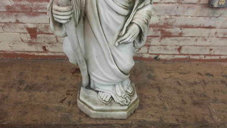 Chinese Marble Statue of Saint Joseph For Sale