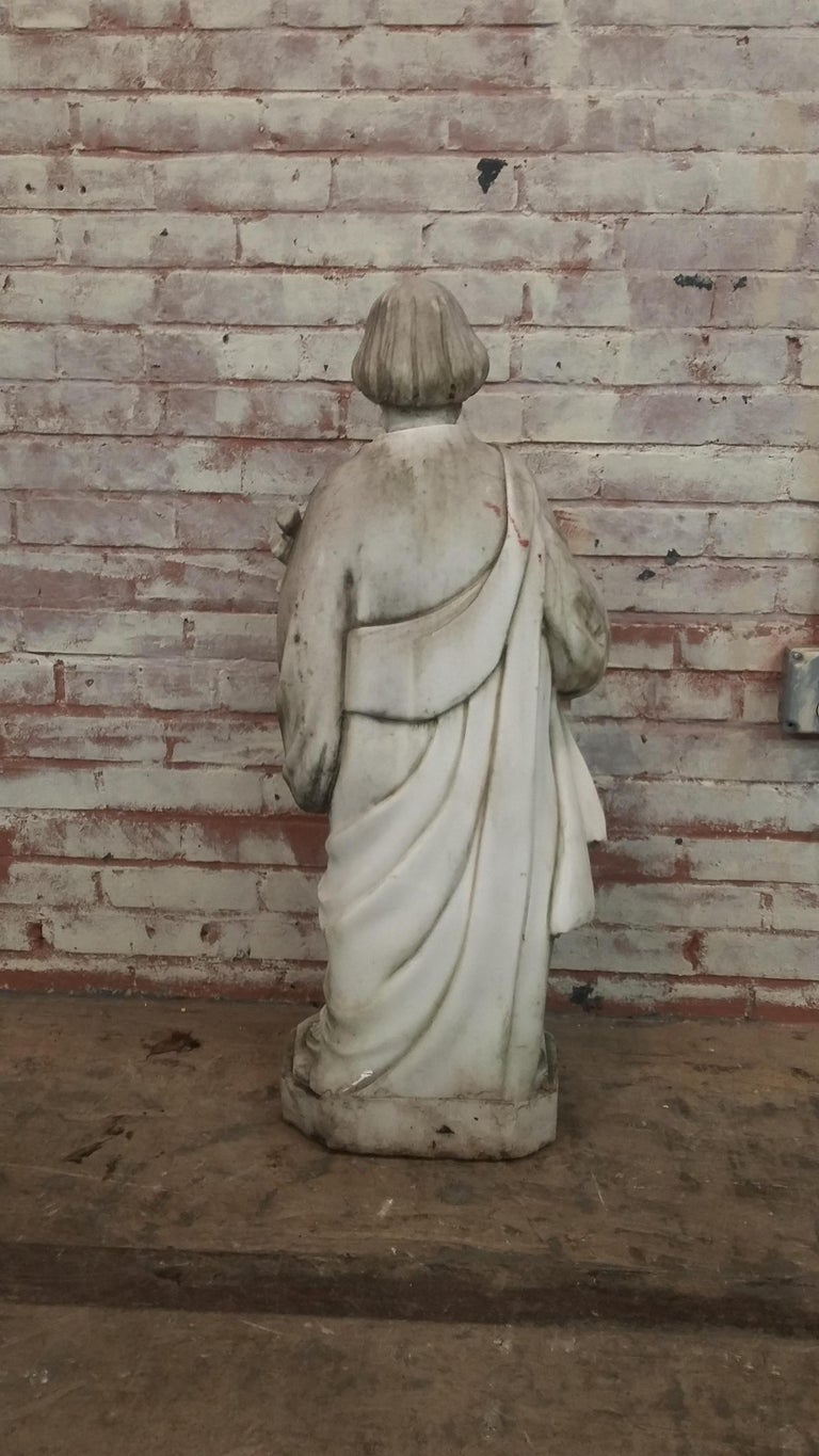 Marble Statue of Saint Joseph In Good Condition For Sale In Stamford, CT