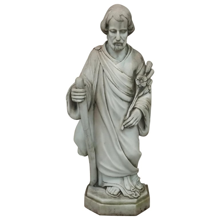 Marble Statue of Saint Joseph For Sale