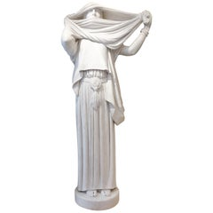 Marble Statue the Woman with a Veil after Jean Louis Gerome, circa 1890-1900
