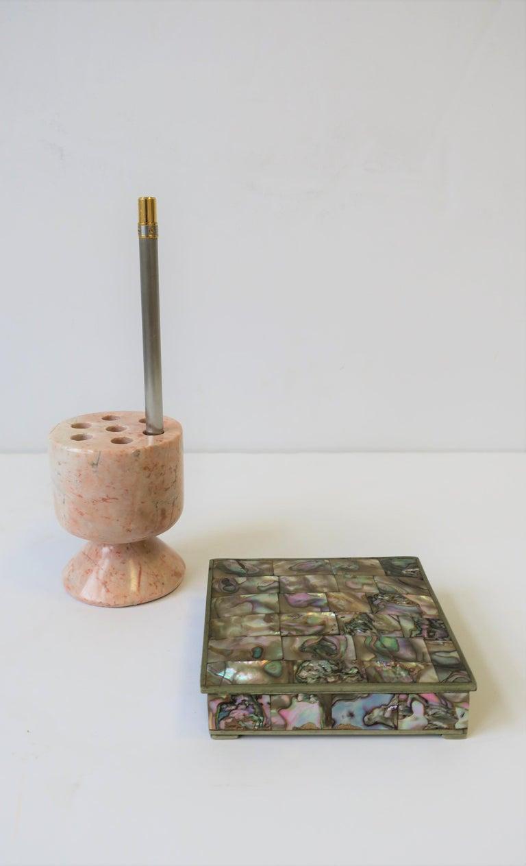 Modern Marble Stone Pen Holder For Sale