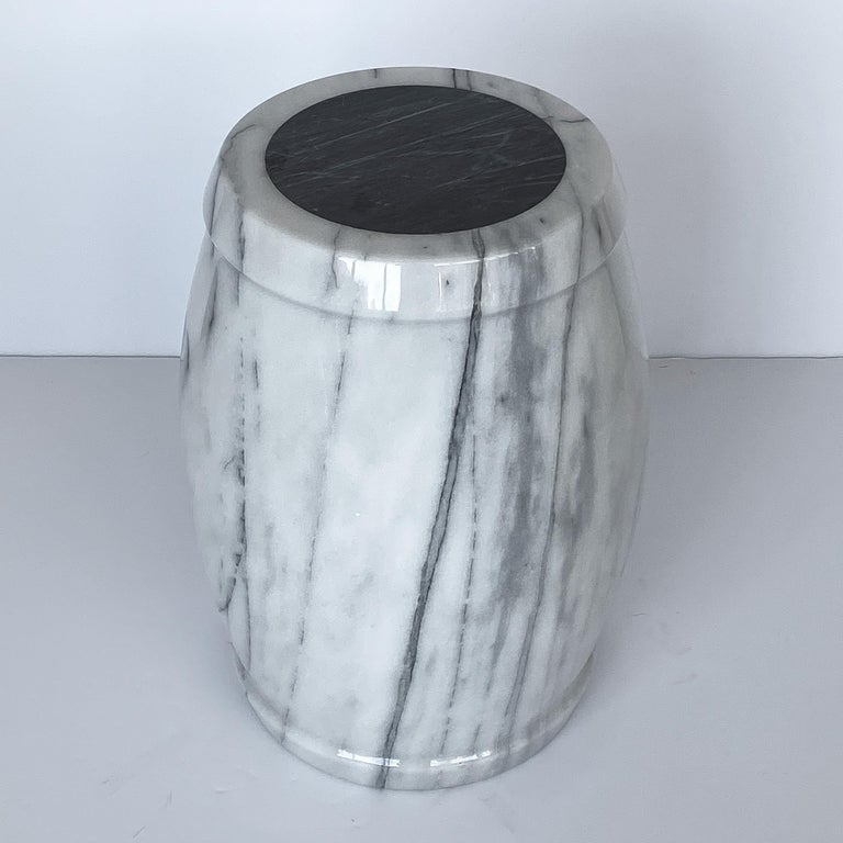 Mid-Century Modern Marble Stool or Side Table For Sale
