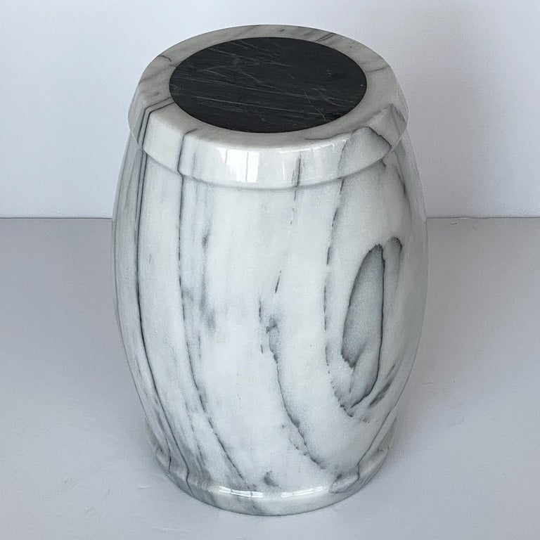 Italian Marble Stool or Side Table For Sale