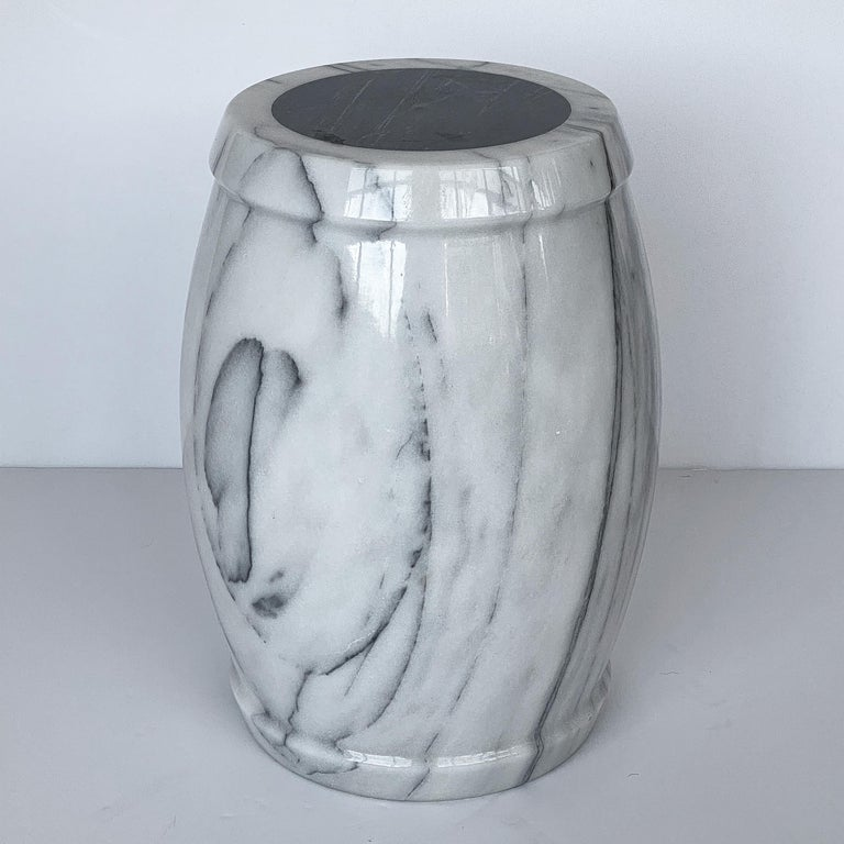 Marble Stool or Side Table In Good Condition For Sale In Chicago, IL