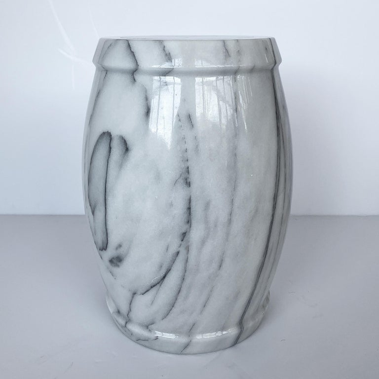 Late 20th Century Marble Stool or Side Table For Sale