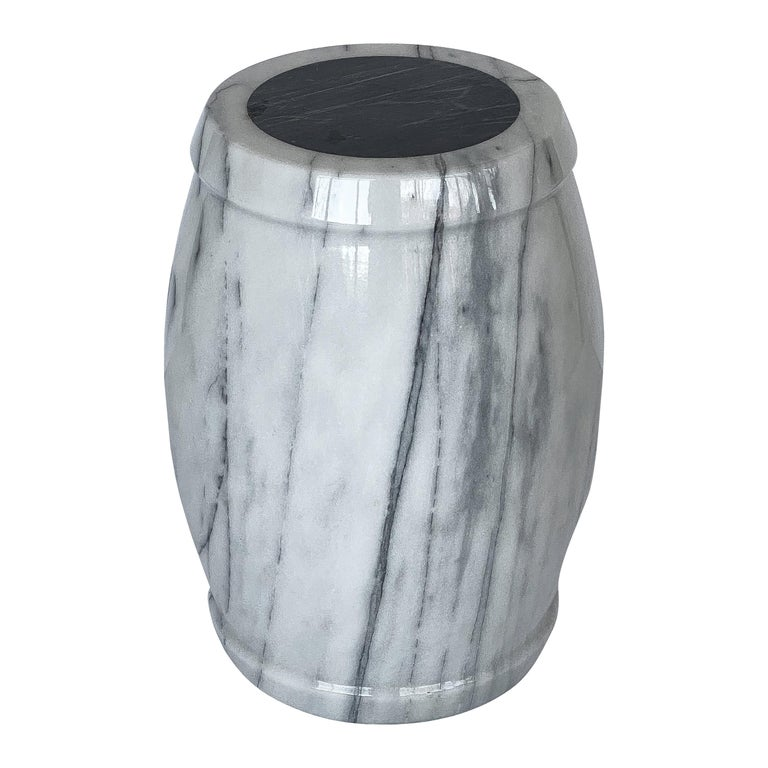 Marble Stool or Side Table For Sale