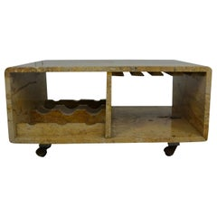 Marble Table and Bar Cart