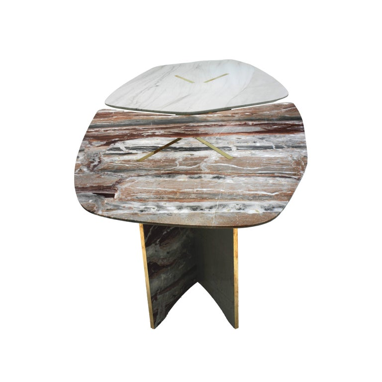Contemporary Marble Table Designed by L.A. Studio For Sale