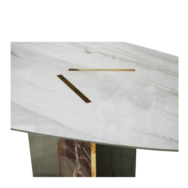 Marble Table Designed by L.A. Studio For Sale 1