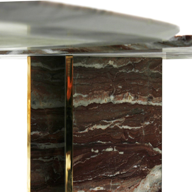 Marble Table Designed by L.A. Studio For Sale 2
