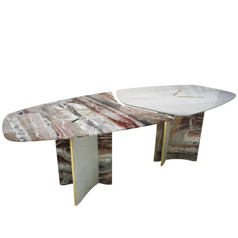 Marble Table Designed by L.A. Studio For Sale
