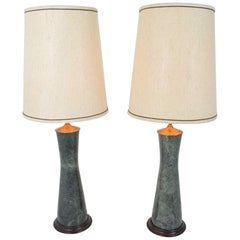 Marble Table Lamps in Teal