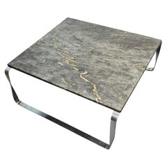 Marble Table with Steel Frame