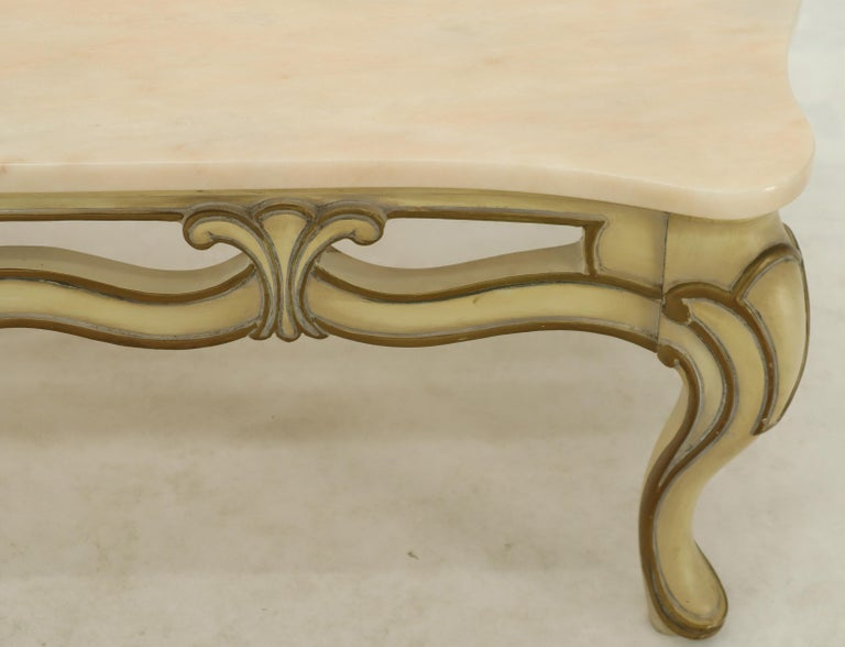 Admirable Marble To Pierced Carving Country French Provincial Coffee Table Cabriole Legs Bralicious Painted Fabric Chair Ideas Braliciousco