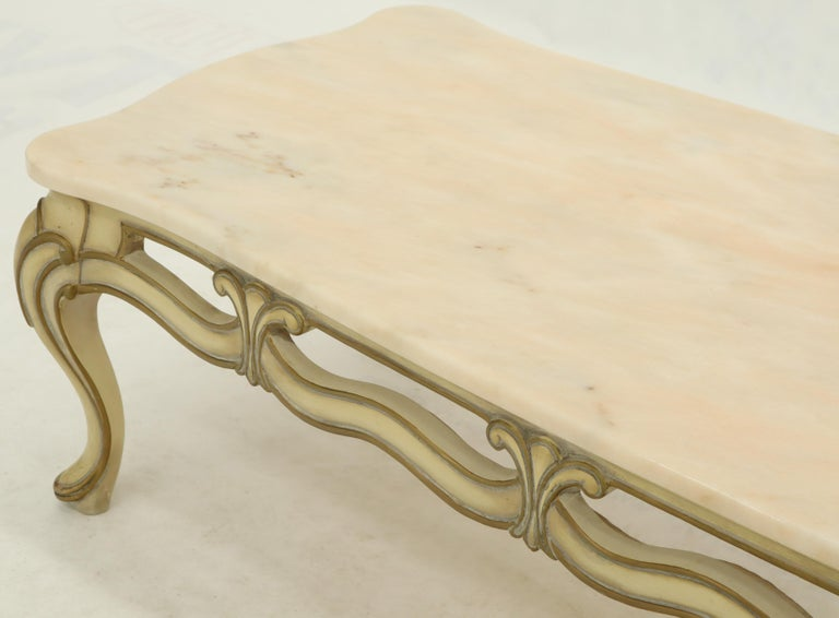 Marvelous Marble To Pierced Carving Country French Provincial Coffee Table Cabriole Legs Bralicious Painted Fabric Chair Ideas Braliciousco