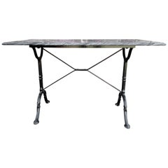 Marble-Top Bistro Table