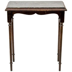 Marble-Top Center Table