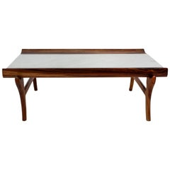 Marble-Top Coffee Table Attributed to Giuseppe Scapinelli