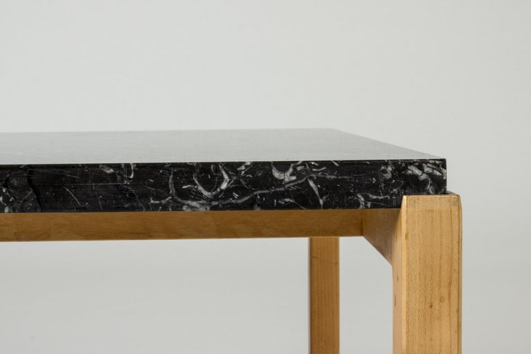 Swedish Marble-Top Coffee Table by Carl-Axel Acking for Torsten Schollin, Sweden, 1950s For Sale