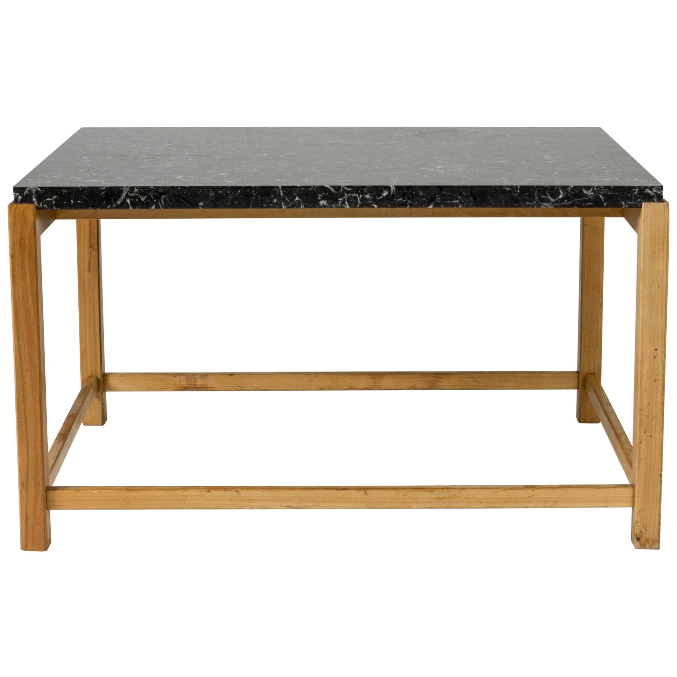 Marble-Top Coffee Table by Carl-Axel Acking for Torsten Schollin, Sweden, 1950s