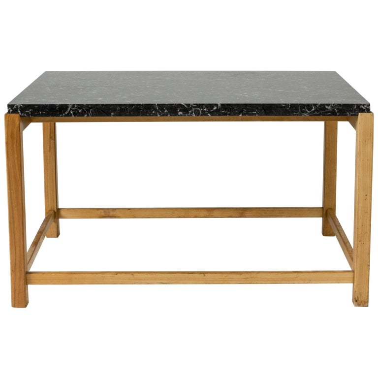 Marble-Top Coffee Table by Carl-Axel Acking for Torsten Schollin, Sweden, 1950s For Sale