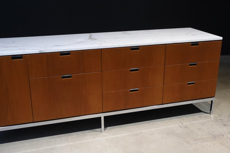 Marble-Top Credenza by Florence Knoll For Sale 7