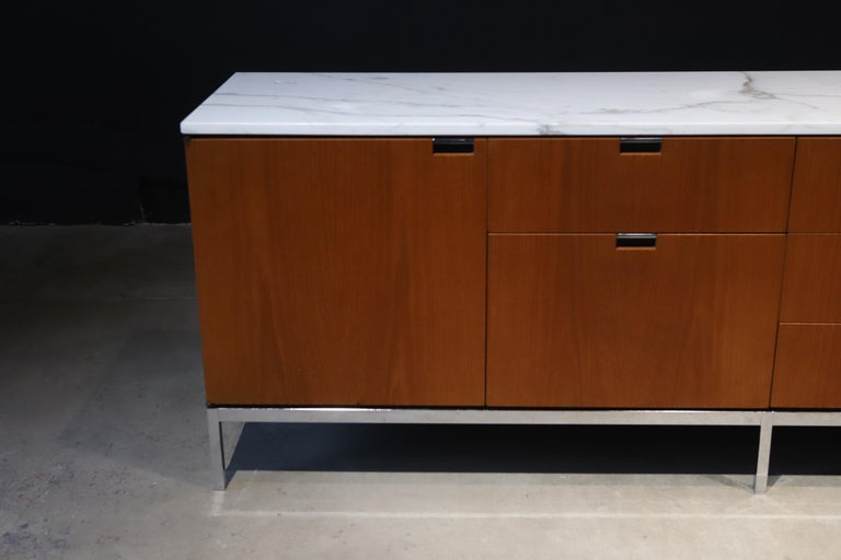 Marble-Top Credenza by Florence Knoll For Sale 9