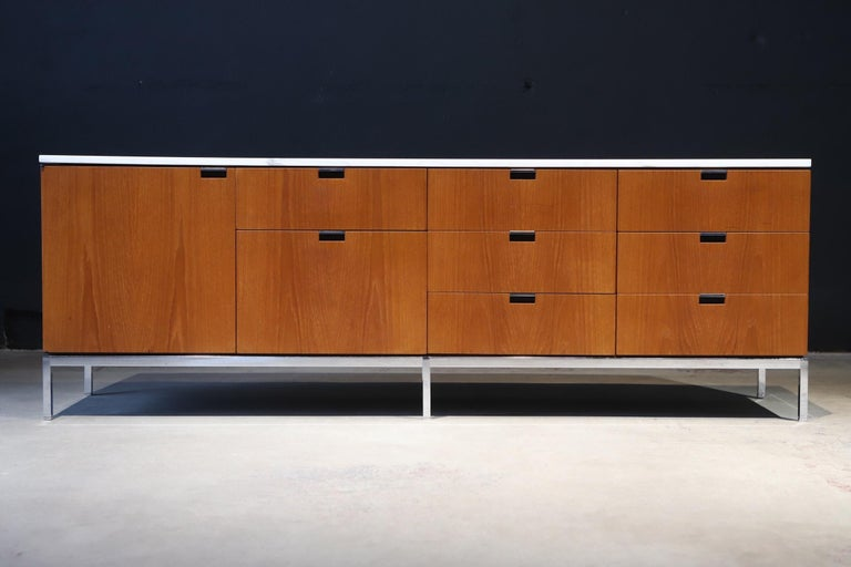 Mid-Century Modern Marble-Top Credenza by Florence Knoll For Sale