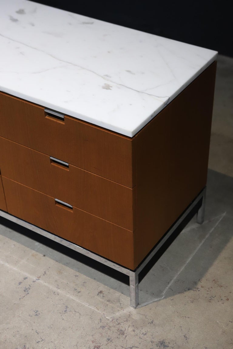 American Marble-Top Credenza by Florence Knoll For Sale