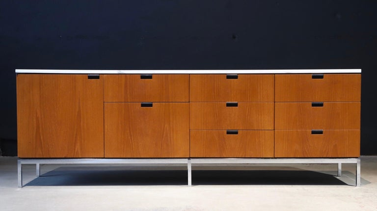 20th Century Marble-Top Credenza by Florence Knoll For Sale
