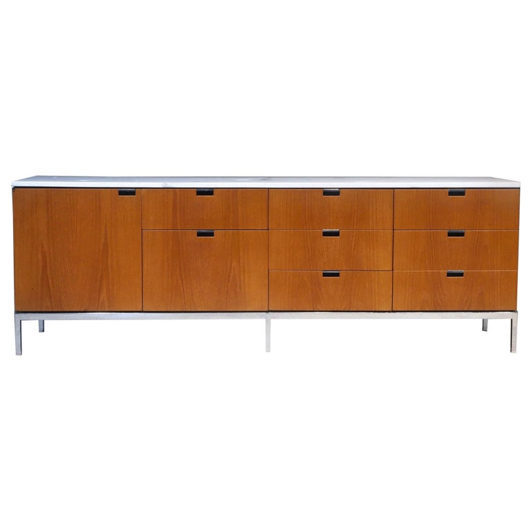 Marble-Top Credenza by Florence Knoll For Sale