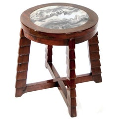 Marble-Top Deco Low Table