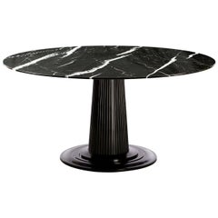 Marble-Top Dining Table
