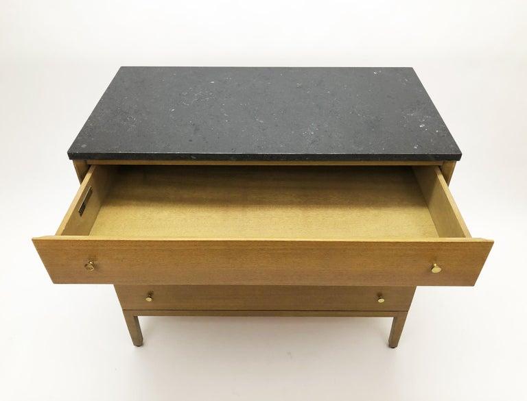 Mid-Century Modern Marble-Top Dresser by Paul McCobb for Calvin